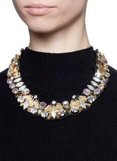 J.CREWBead and crystal fabric-backed necklace