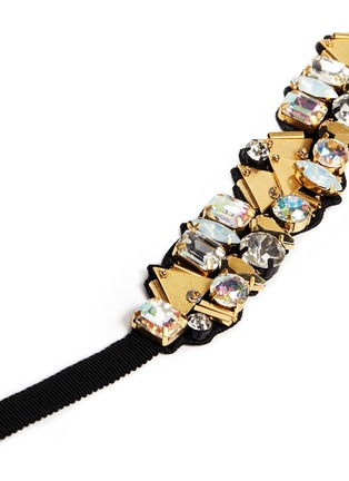 Detail View - Click To Enlarge - J.CREW - Bead and crystal fabric-backed bracelet