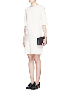 MS MINWool blend Milano knit belted dress