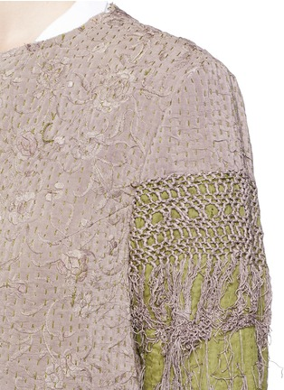 Detail View - Click To Enlarge - By Walid - 'Gigi' one of a kind piano shawl silk coat