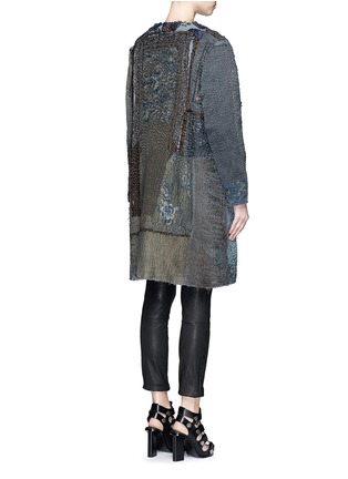 Back View - Click To Enlarge - By Walid - 'Gigi' Chinese silk panel one of a kind coat