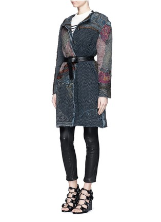 Figure View - Click To Enlarge - By Walid - 'Gigi' Chinese silk panel one of a kind coat