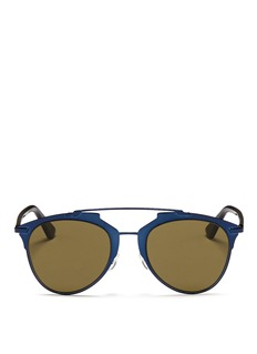 DIOR 'Reflected' acetate temple metal veneer aviator sunglasses