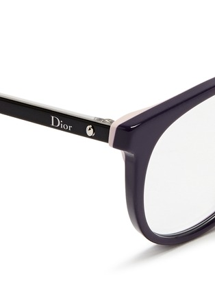Detail View - Click To Enlarge - Dior - 'Montaigne' acetate round optical glasses