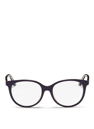 Main View - Click To Enlarge - Dior - 'Montaigne' acetate round optical glasses
