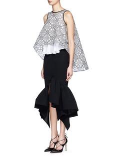 MATICEVSKI'Creature' ruffle hem long line skirt