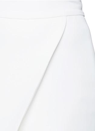 Detail View - Click To Enlarge - Maticevski - 'Venom' faux wrap crepe skirt
