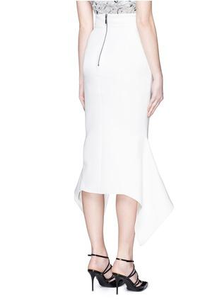 Back View - Click To Enlarge - Maticevski - 'Venom' faux wrap crepe skirt
