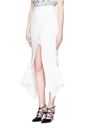 Front View - Click To Enlarge - Maticevski - 'Venom' faux wrap crepe skirt