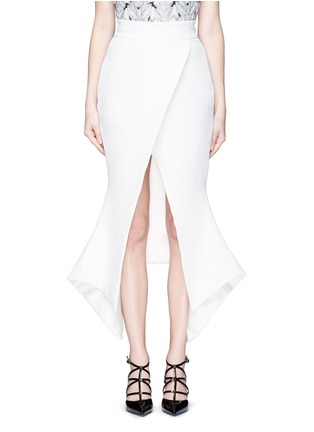 Main View - Click To Enlarge - Maticevski - 'Venom' faux wrap crepe skirt