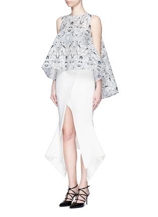 Figure View - Click To Enlarge - Maticevski - 'Venom' faux wrap crepe skirt