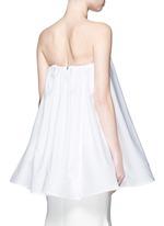 'Profound' cotton poplin strapless flare top