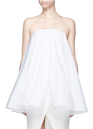 Maticevski-'Profound' cotton poplin strapless flare top