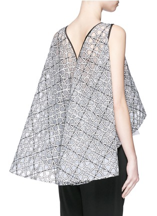 Back View - Click To Enlarge - Maticevski - 'Interstellar' star jacquard sleeveless cape flare top