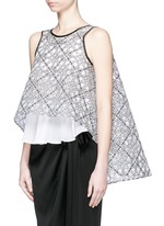 'Interstellar' star jacquard sleeveless cape flare top