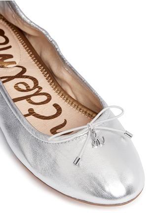 Detail View - Click To Enlarge - Sam Edelman - Felicia' metallic leather ballet flats