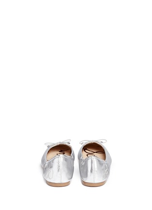 Back View - Click To Enlarge - Sam Edelman - Felicia' metallic leather ballet flats