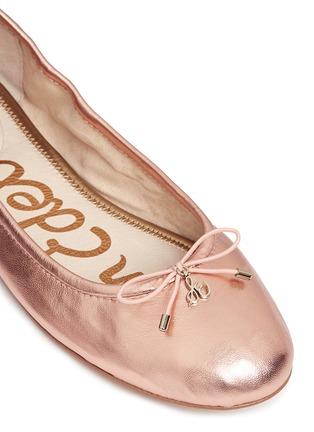 Detail View - Click To Enlarge - Sam Edelman - 'Felicia' metallic leather ballet flats