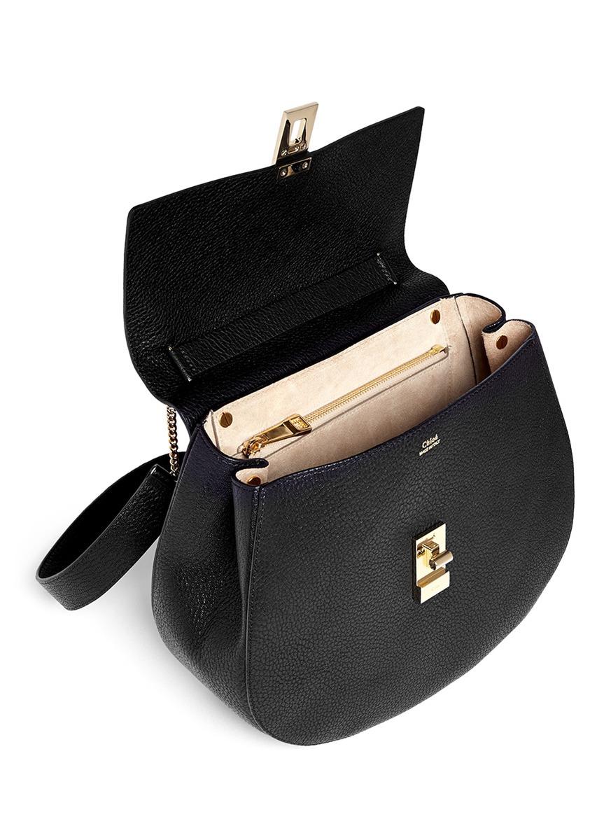 chloe drew medium pebbled leather shoulder bag
