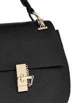 'Drew' medium pebbled leather shoulder bag