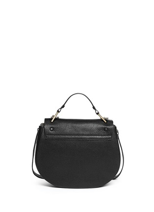 Back View - Click To Enlarge - Chloé - 'Drew' medium pebbled leather shoulder bag