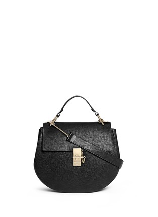 Main View - Click To Enlarge - Chloé - 'Drew' medium pebbled leather shoulder bag