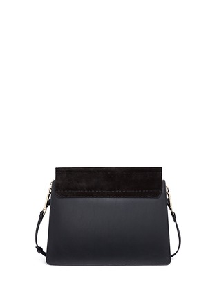Back View - Click To Enlarge - Chloé - 'Faye' medium suede flap leather shoulder bag
