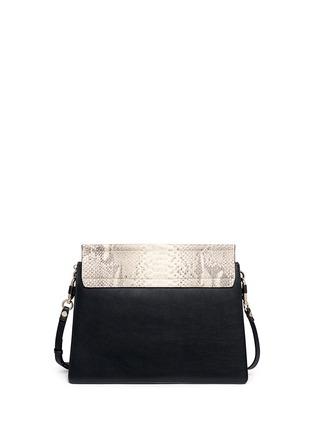 CHLO�� - \u0026#39;Faye\u0026#39; medium python panel leather shoulder bag | Animal ...