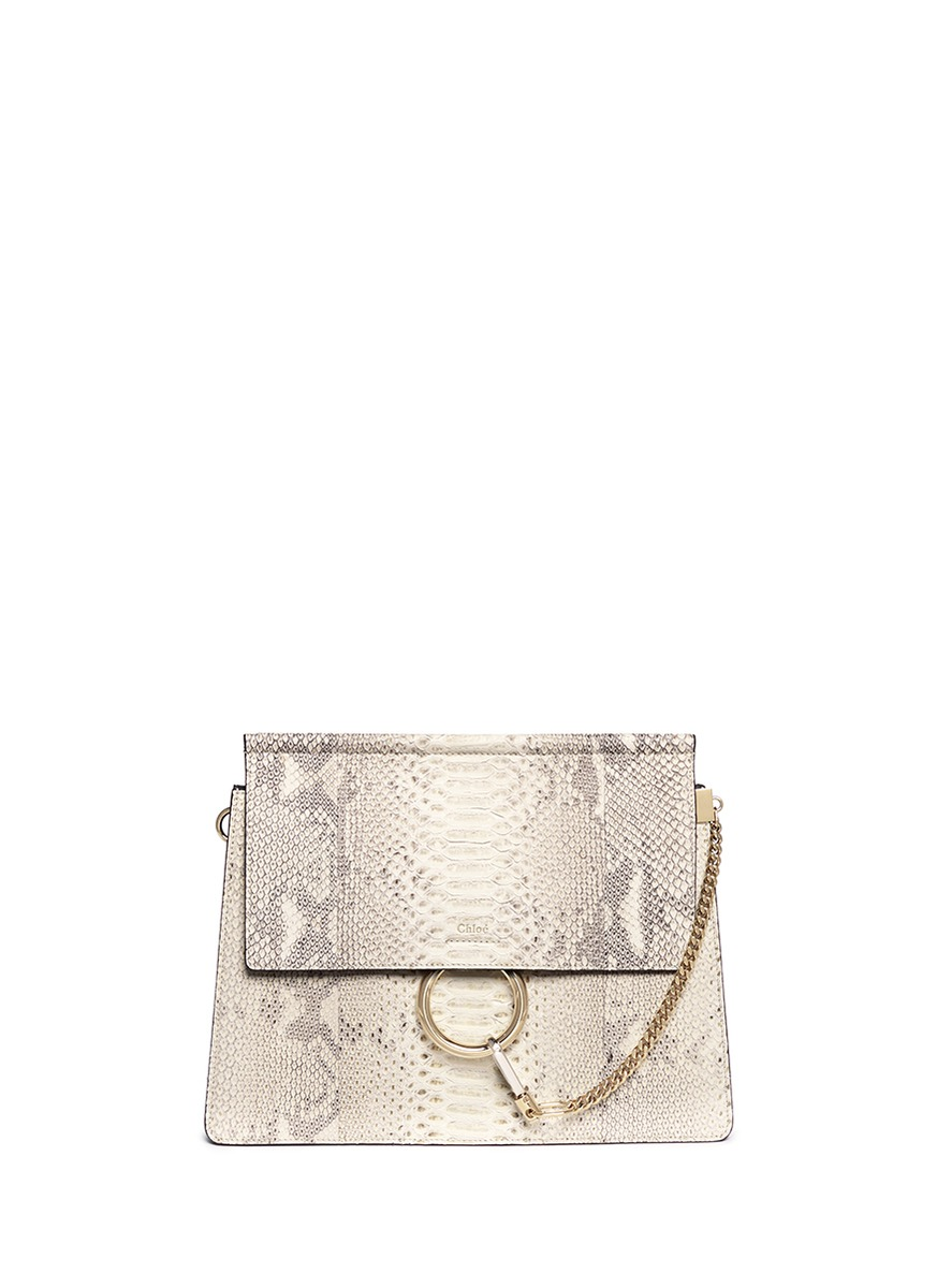 chloe bag sale uk - CHLO�� - \u0026#39;Faye\u0026#39; medium python panel leather shoulder bag | Animal ...