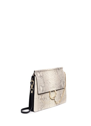 chloe faye shoulder bag python medium