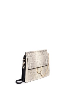 CHLOÉ'Faye' medium python panel leather shoulder bag