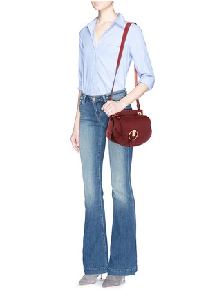 Figure View - Click To Enlarge - Chloé - 'Goldie' small leather satchel