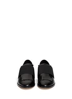 PEDDER RED'Ashley' contrast heel fringe flap leather loafers