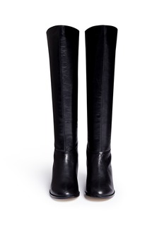 PEDDER RED 'Perry' knee high leather boots
