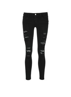 FRAME DENIM'Le Skinny de Jeanne' rip slim fit jeans