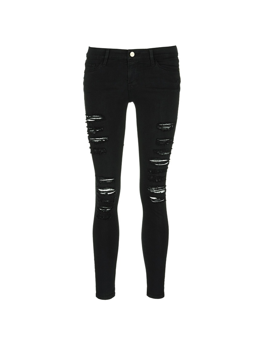 Le Skinny de Jeanne rip slim fit jeans by Frame Denim