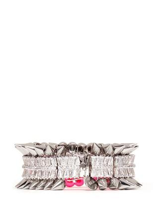 Back View - Click To Enlarge - Venna - Crystal spike bracelet