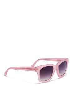 LINDA FARROW Iconic D-frame acetate sunglasses