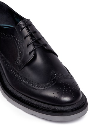 Detail View - Click To Enlarge - Paul Smith - 'Grand' brogue leather Derbies