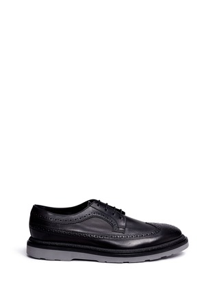Main View - Click To Enlarge - Paul Smith - 'Grand' brogue leather Derbies