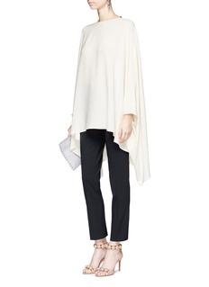 ValentinoDetachable bow silk georgette cape top