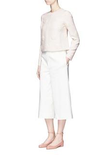ValentinoDaisy appliqué Crepe Couture top