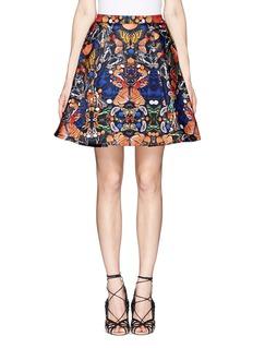 ALICE + OLIVIA'Nyla' butterfly print skirt