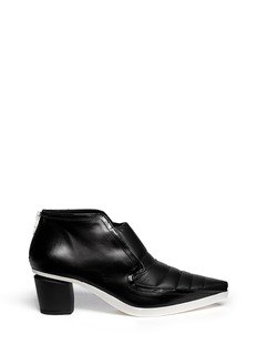 MCQ ALEXANDER MCQUEEN 'Liv' quilted panel leather booties