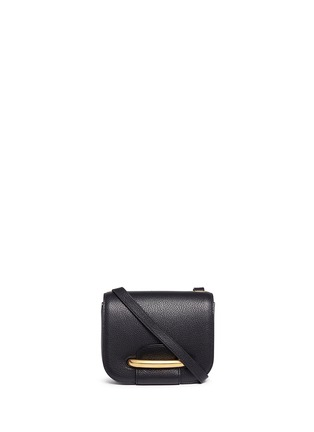Main View - Click To Enlarge - Mulberry - 'Small Selwood' metal tab leather crossbody bag