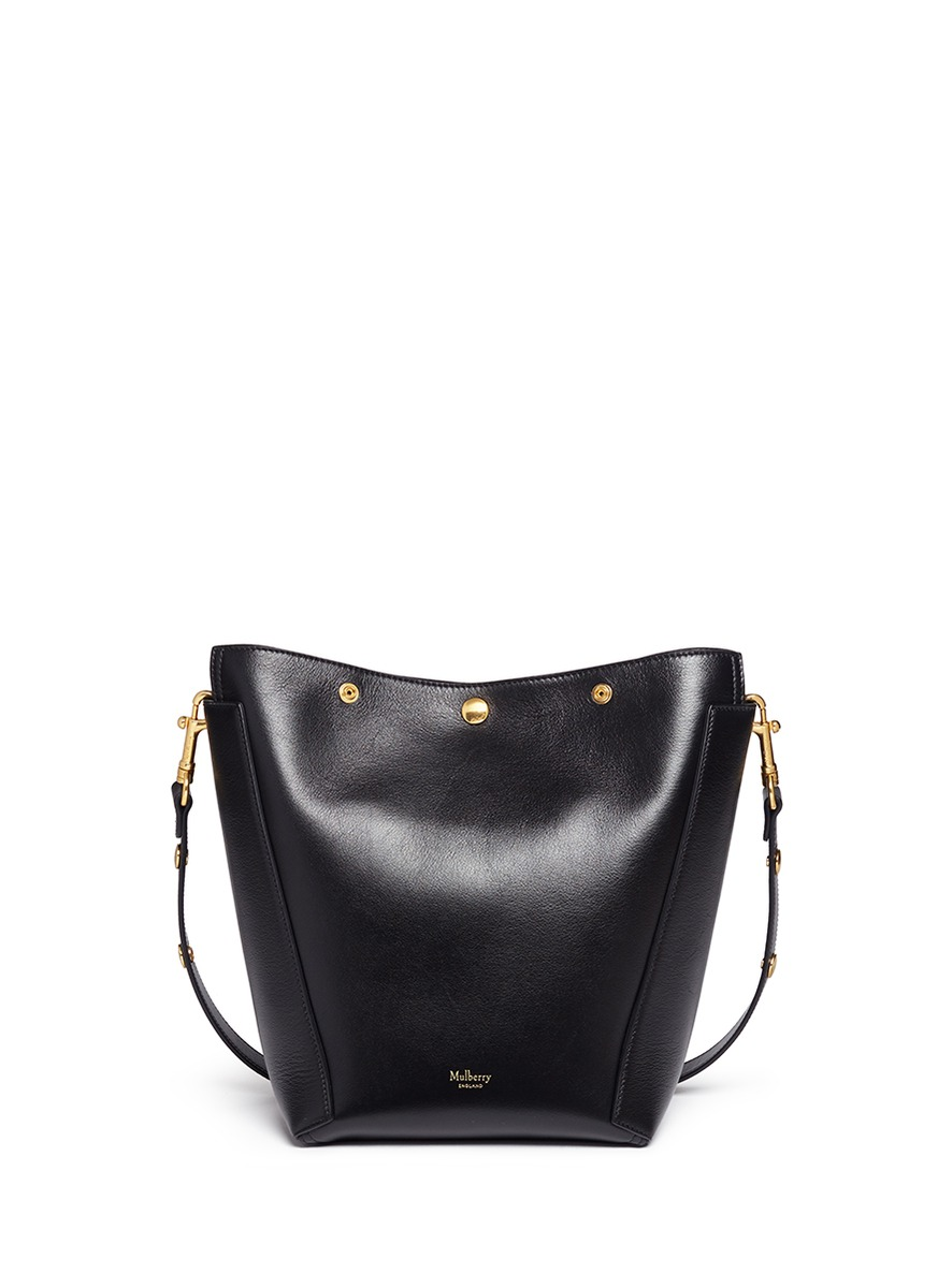 Small Camden press stud leather hobo by Mulberry