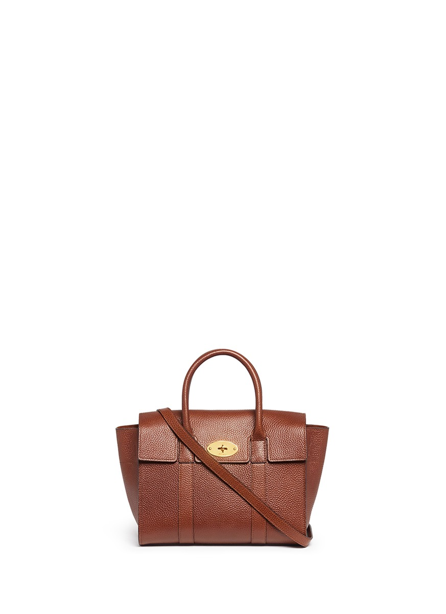 Small Bayswater vegetable tanned leather tote by Mulberry