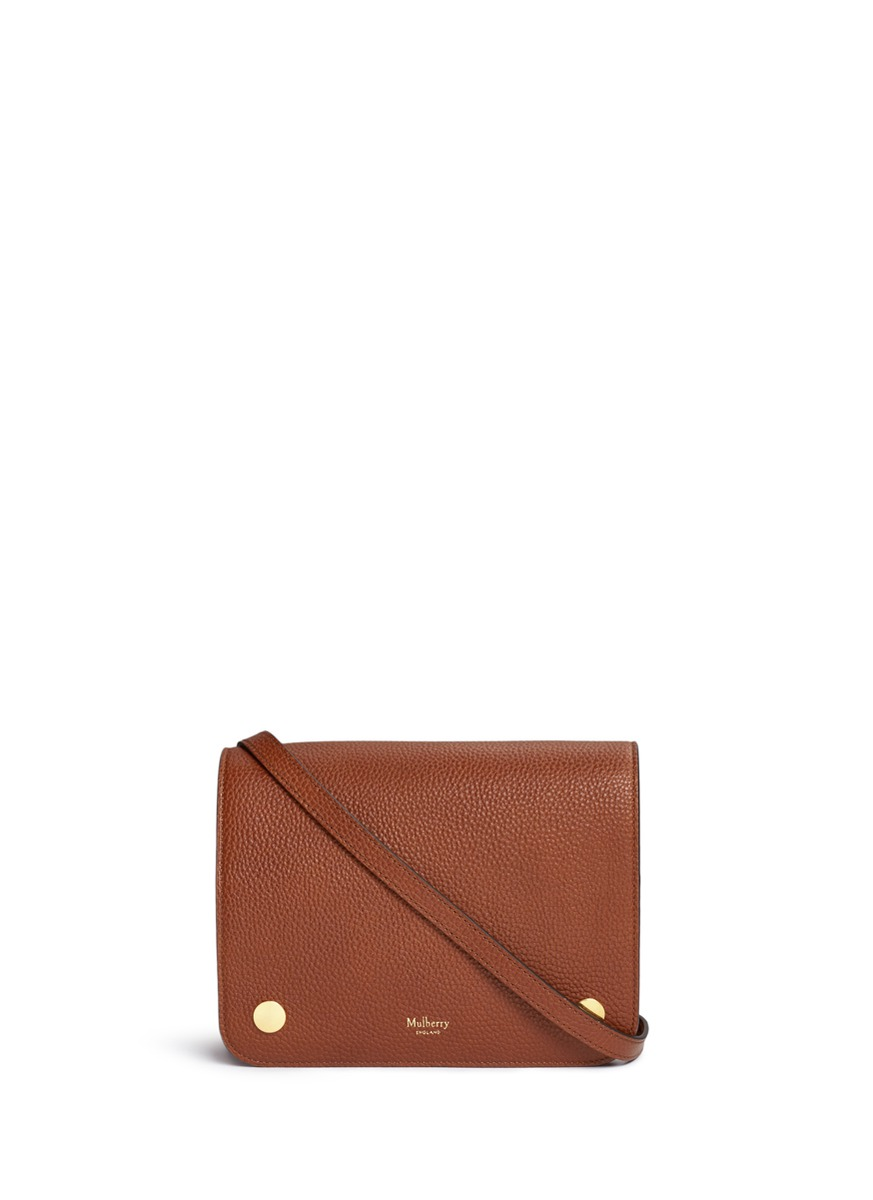 Clifton vegetable tanned leather crossbody bag by Mulberry
