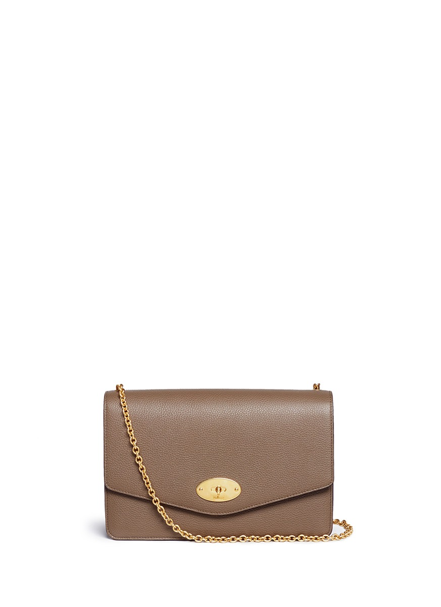 Small Darley grainy leather chain bag by Mulberry