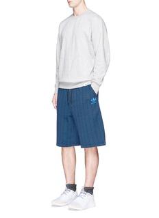 Adidas'NYC' wave print shorts